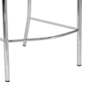 Vittoria 26'' Counter Stool - Chrome Frame, Brown Woven Leather - WI-ALC-1866B-65-BROWN