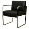 Meg Black Leather Chair - WI-ALC-1120-BLK