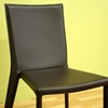 Semele Stackable Chocolate Brown Leather Dining Chair - WI-ALC-1318-BR