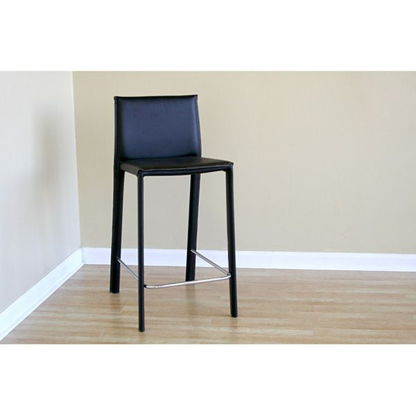 Berlin Black Modern Counter Stools - WI-ALC-1822A-65BK