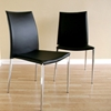 Benton Stackable Black Leather Dining Chair - WI-ALC-1899-BLK