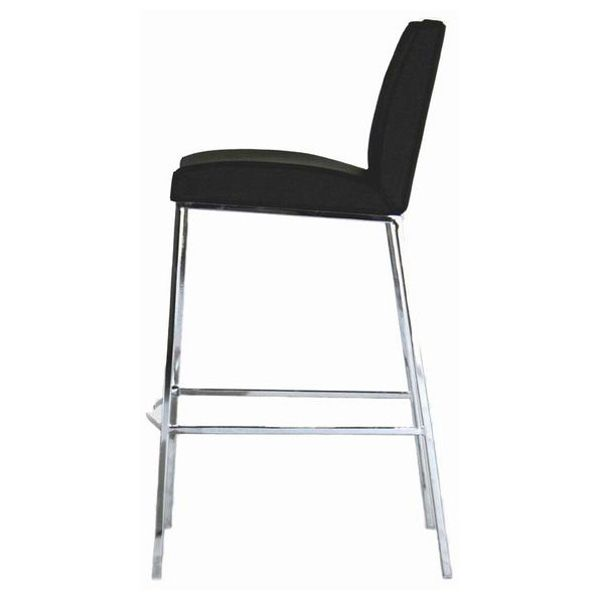 Callero Black Leather Bar Stool - WI-ALC-2213-75