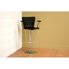 Arasi Contemporary Bar Stool - Black - WI-ALC-2219BLACK