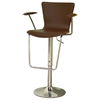 Arasi Contemporary Bar Stool - Brown - WI-ALC-2219BROWN
