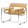 Jericho Marcel Breuer Inspired Accent Chair - Tan Leather - WI-ALC-3001-TAN