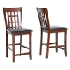 Amber 25.5'' Counter Stool - Cherry Frame, Black Seat - WI-PCH500-B-24