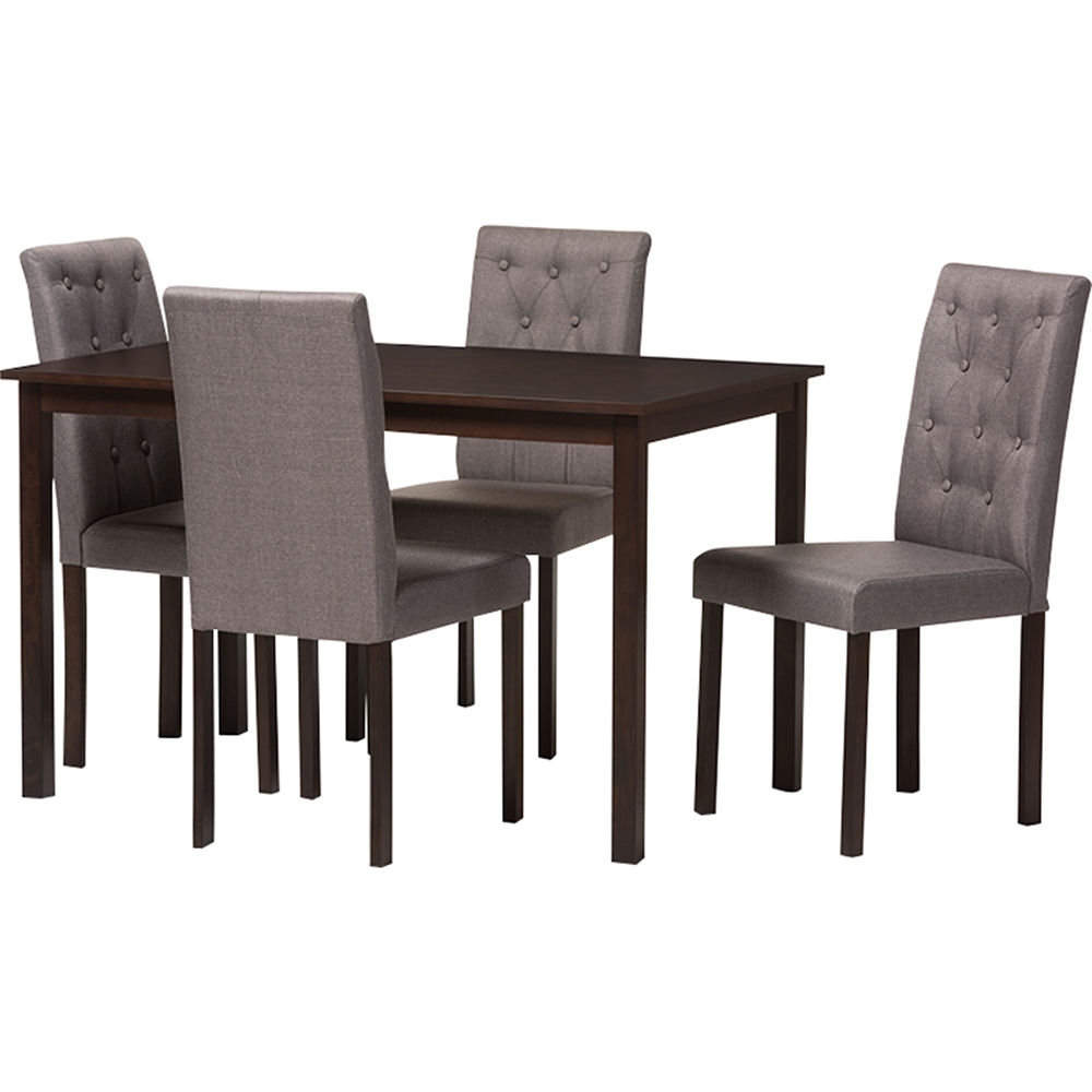 Gardner 5 piece rectangular dining set button tufted for Gardner storage