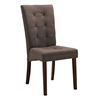 Anne Dining Chair - Dark Brown Legs, Taupe Brown Twill - WI-ANNE-DINING-CHAIR-107-662