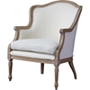 Charlemagne Accent Chair - White, Brown Ash - WI-ASS292MI-ASH2