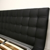 Celia King Size Platform Bed - Tufted Headboard, Black - WI-B-006B-BLACK-KING