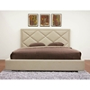 Palomar Beige Fabric King Bed - WI-B-179-C-250-KING