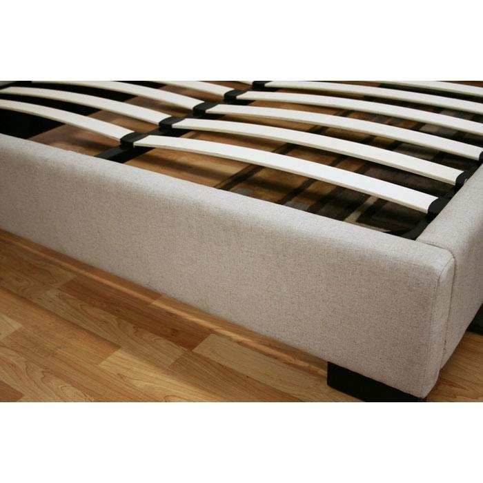 Favela Beige Linen Queen Platform Bed Wi B