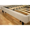 Quincey Cream Fabric Platform Bed - WI-B-86-C-172-X