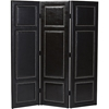 Rochelle 3-Panel Faux Leather Folding Screen - Dark Brown - WI-BBT3126-BROWN-RD