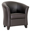Anderson Club Chair - Dark Brown, Barrel Back - WI-BBT5070-DARK-BROWN-CC