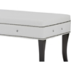 Tavignano Faux Leather Bench - Nailhead, White - WI-BBT5077-WHITE-BENCH