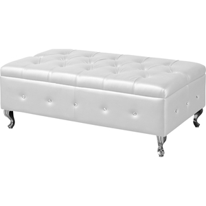 Brighton Bedroom Bench - Button Tufted, White
