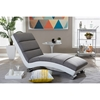 Percy Upholstered Chaise Lounge - Gray, White - WI-BBT5194-GRAY-WHITE