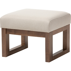 Yashiya Upholstered Ottoman - Light Beige