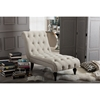 Layla Upholstered Chaise Lounge - Button Tufted, Light Beige - WI-BBT5211-LIGHT-BEIGE-CHAISE