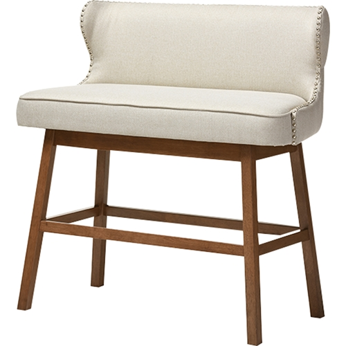 Upholstered Bench Beige: Gradisca Upholstered Bar Bench Banquette