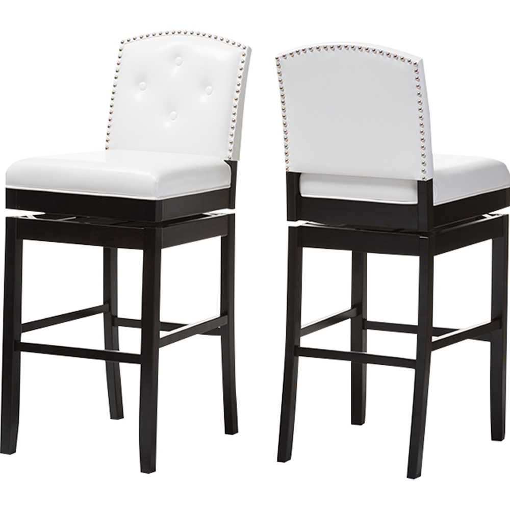 Ginaro Faux Leather Swivel Bar Stool Button Tufted  : bbt5220 white stool from www.dcgstores.com size 1000 x 1000 jpeg 212kB