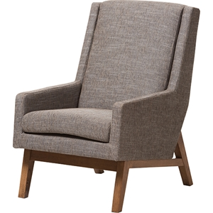 Aberdeen Upholstered Lounge Chair - Gravel