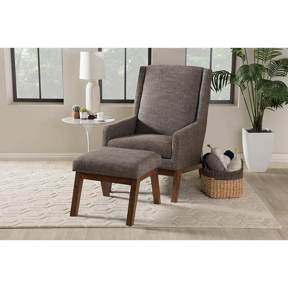 Aberdeen 2 Piece Upholstered Lounge Chair Ottoman