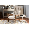 Roxy Upholstered High Back Chair - Button Tufted, Light Beige - WI-BBT5265-LIGHT-BEIGE-CC-6086-1