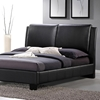 sabrina queen size platform bed  overstuffed headboard, black, Headboard designs