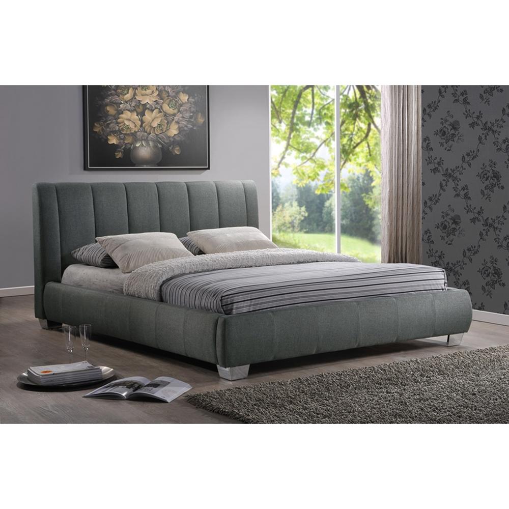 Fun Bedroom Chairs Bedroom Furniture Grey The Bedroom Bed Bedroom Vertical Blinds: Marzenia Fabric Queen Platform Bed - Gray