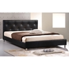 Barbara Queen Platform Bed - Crystal Tufts, Metal Legs, Black - WI-BBT6140-BLACK-BED