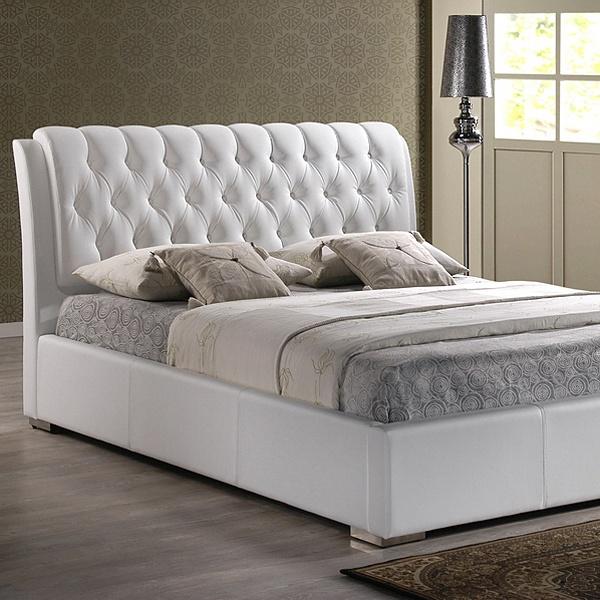 Bianca King Platform Bed Diamond Tufts Metal Legs