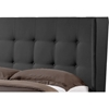 Favela Faux Leather Platform Bed - Button Tufted - WI-BBT6386-BED
