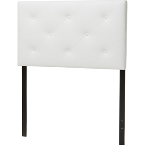 Baltimore Faux Leather Twin Headboard - White