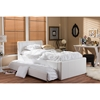 Cosmo Faux Leather Twin Trundle Bed - White - WI-BBT6469-TWIN-WHITE