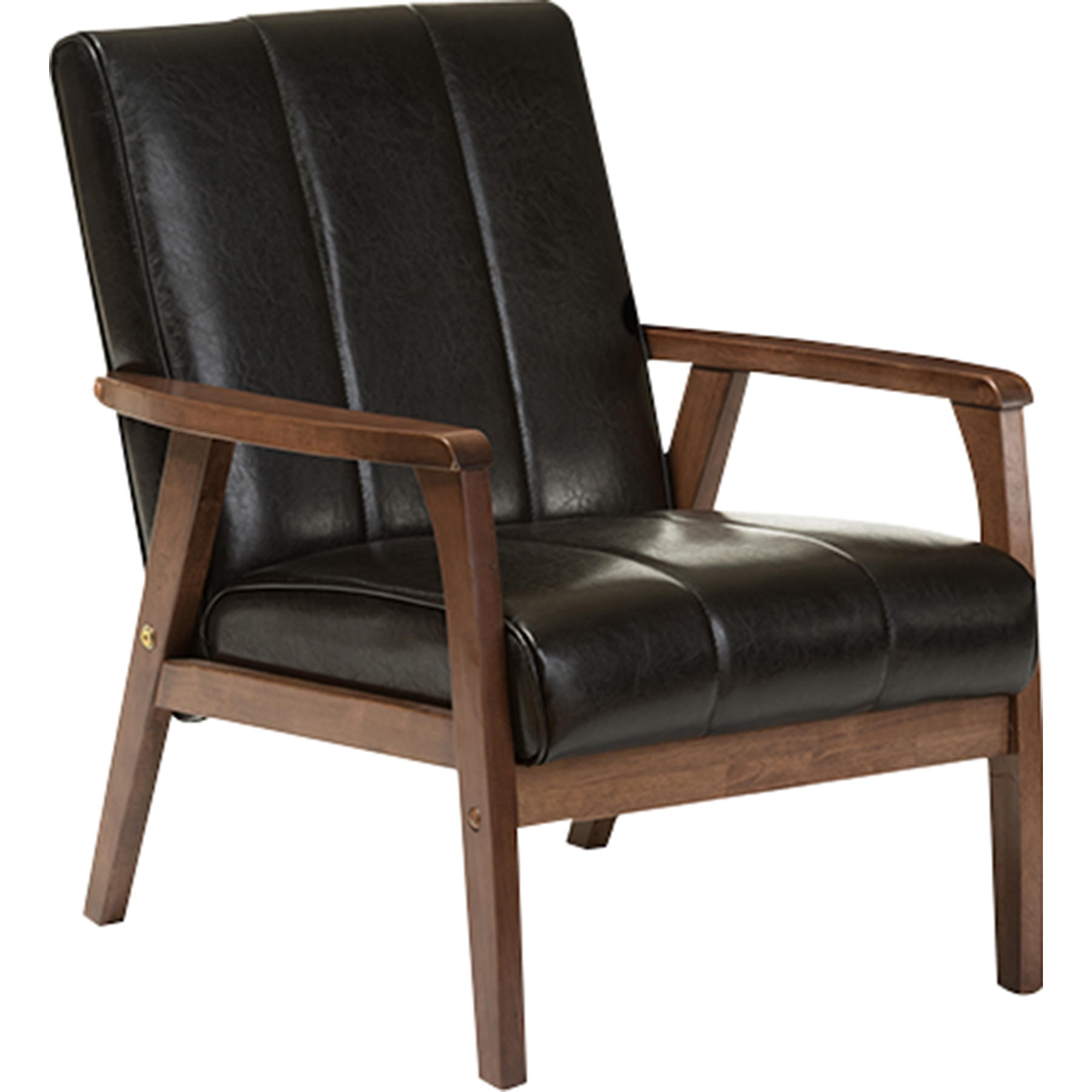 Nikko Faux Leather Lounge Chair   Black   WI BBT8011A2 BLACK CHAIR ...