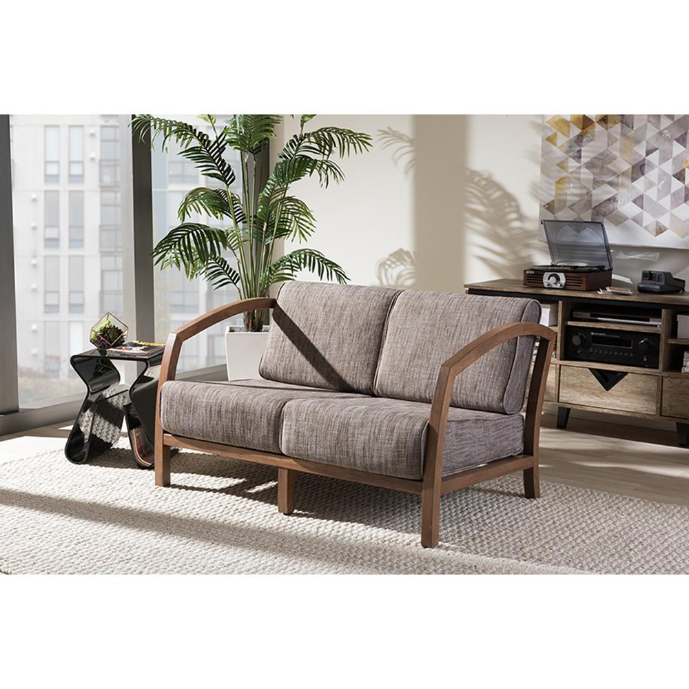 Sofa Free Delivery: Velda 3-Piece Sofa Set - Medium Brown, Gravel