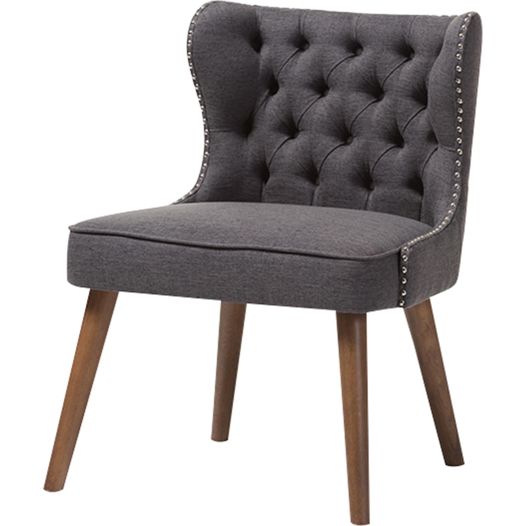 Bon Scarlett Upholstered Nailhead Accent Chair   Button Tufted, Dark Gray    WI BBT8017  ...