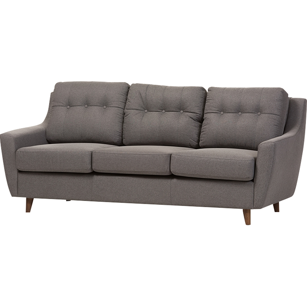 Mckenzie 3 piece sofa set button tufted gray dcg stores for Tufted couch set