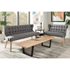 Melody 2-Piece Sofa Set - Button Tufted, Gray - WI-BBT8026-GRAY-2PC-SET