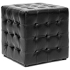 Siskal Tufted Cube Ottoman - Black Upholstery (Set of 2) - WI-BH-5589-BLACK-OTTO