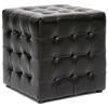 Siskal Tufted Cube Ottoman - Dark Brown Upholstery (Set of 2) - WI-BH-5589-DARK-BROWN-OTTO