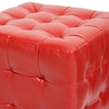 Siskal Tufted Cube Ottoman - Red Upholstery (Set of 2) - WI-BH-5589-RED-OTTO