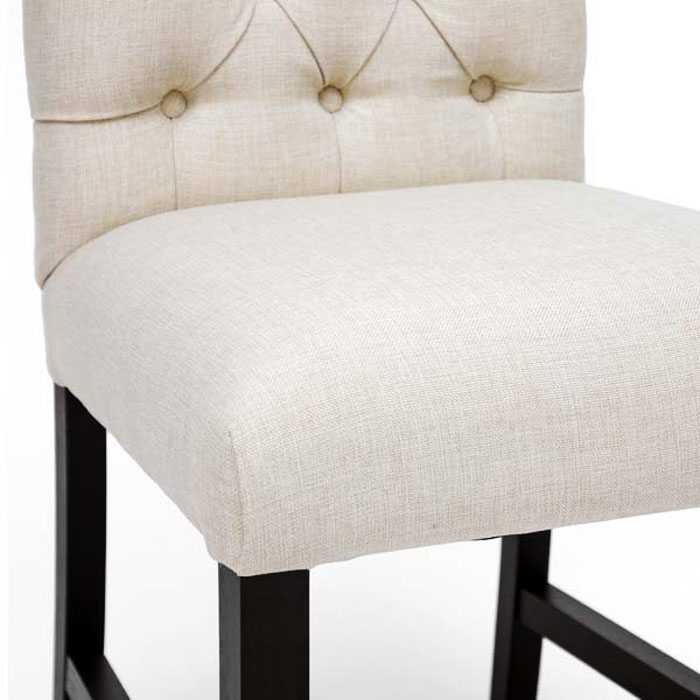 Pearsall Beige Linen Dining Chair - WI-BH-63101