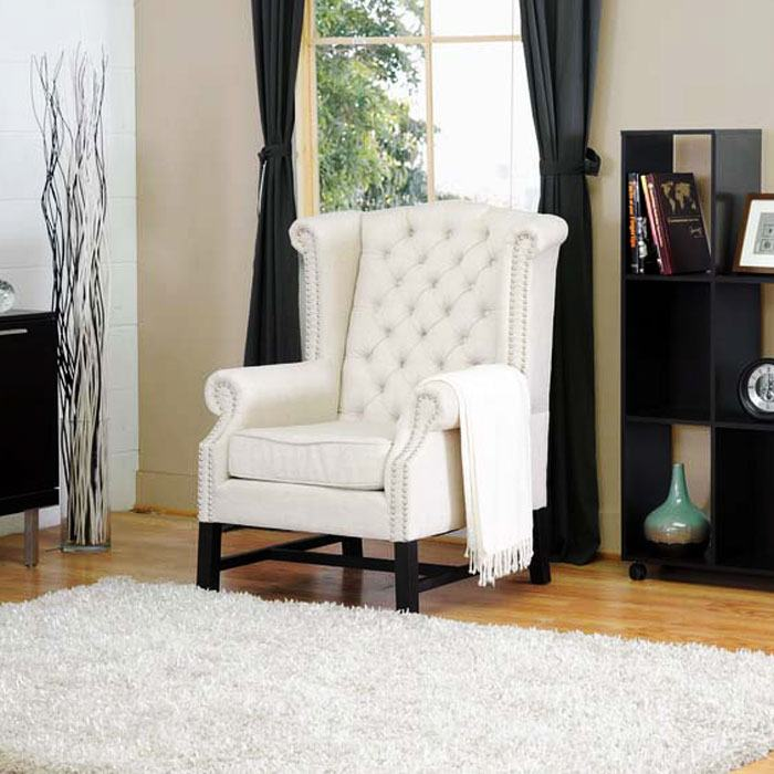 ... Sussex Beige Linen Club Chair   WI BH 63102