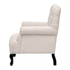 Joussard Beige Linen Club Chair - WI-BH-63108