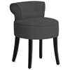 Millani Scroll Back Chair - Black Legs, Dark Gray Linen - WI-BH-63110-GRAY-AC