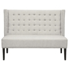 Owstynn Wingback Banquette Bench - Tufted, Beige Linen Fabric - WI-BH-63114