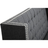 Owstynn Wingback Banquette Bench - Tufted, Gray Linen - WI-BH-63114G-GRAY